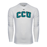 Under Armour White Long Sleeve Tech Tee-Arched CCU