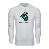 Under Armour White Long Sleeve Tech Tee-Volleyball