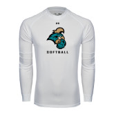 Under Armour White Long Sleeve Tech Tee-Softball