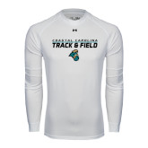 Under Armour White Long Sleeve Tech Tee-Track and Field Design