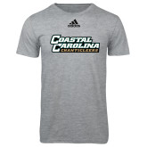 Adidas Sport Grey Logo T Shirt-Coastal Carolina Chanticleers
