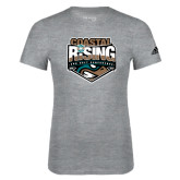 Adidas Sport Grey Logo T Shirt-Coastal Rising - Sun Belt Conference