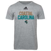 Adidas Sport Grey Logo T Shirt-Coastal Carolina Stacked