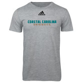 Adidas Sport Grey Logo T Shirt-Coastal Carolina University