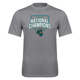 Performance Grey Concrete Tee-2016 NCAA National Champions Baseball