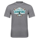 Performance Grey Concrete Tee-2016 NCAA Baseball National Champions