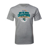 Grey T Shirt-Big South Basketball Champions 2015