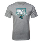 Grey T Shirt-2016 NCAA National Champions Baseball