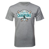 Grey T Shirt-2016 NCAA Baseball National Champions