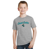 Youth Grey T-Shirt-Coastal Carolina Arched