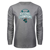 Grey Long Sleeve T Shirt-2016 NCAA College World Series Baseball Champions