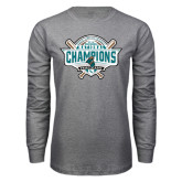 Grey Long Sleeve T Shirt-2016 NCAA Baseball National Champions