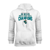Champion White Fleece Hood-2014 Mens Basketball - Big South Champions Design
