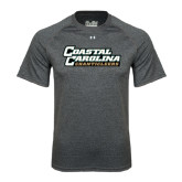 Under Armour Carbon Heather Tech Tee-Coastal Carolina Chanticleers