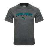 Under Armour Carbon Heather Tech Tee-Coastal Carolina University Arched