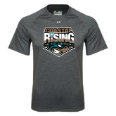 Under Armour Carbon Heather Tech Tee-Coastal Rising - Sun Belt Conference