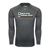 Under Armour Carbon Heather Long Sleeve Tech Tee-Coastal Carolina Chanticleers