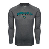 Under Armour Carbon Heather Long Sleeve Tech Tee-Coastal Carolina University Arched