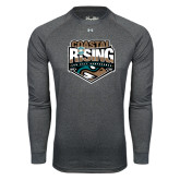 Under Armour Carbon Heather Long Sleeve Tech Tee-Coastal Rising - Sun Belt Conference