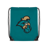 Teal Drawstring Backpack-Chanticleer Head