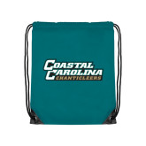 Teal Drawstring Backpack-Coastal Carolina Chanticleers