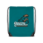 Teal Drawstring Backpack-Official Logo