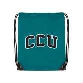 Teal Drawstring Backpack-Arched CCU