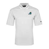 Under Armour White Performance Polo-Official Logo