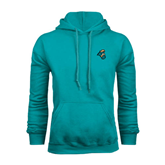 Champion Teal Fleece Hood-Chanticleer Head