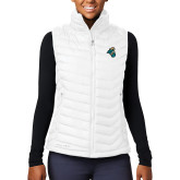 Columbia Mighty LITE Ladies White Vest-Chanticleer Head