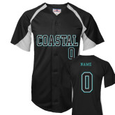 Replica Black Adult Baseball Jersey-Personalized