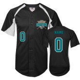 Replica Black Adult Baseball Jersey-Personalized World Series