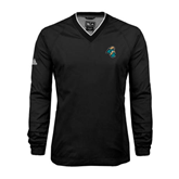 Adidas ClimaProof Black V Neck Windshirt-Chanticleer Head