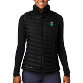 Columbia Lake 22 Ladies Black Vest-Chanticleer Head