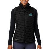 Columbia Mighty LITE Ladies Black Vest-Official Logo