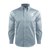 Red House Lt Blue Long Sleeve Shirt-Chanticleer Head