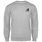 Champion Grey Fleece Crew-Official Logo