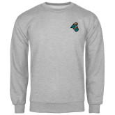 Champion Grey Fleece Crew-Chanticleer Head