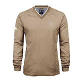 Adidas ClimaProof Khaki V Neck Windshirt-Chanticleer Head