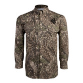Camo Long Sleeve Performance Fishing Shirt-Chanticleer Head