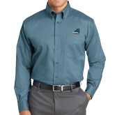 Red House Teal Long Sleeve Shirt-Official Logo