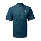 Denim Shirt Short Sleeve-Chanticleer Head
