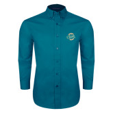Teal Green Twill Button Down Long Sleeve-2016 NCAA College World Series Champions