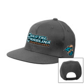 Charcoal Flat Bill Snapback Hat-Coastal Carolina Chanticleers