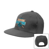 Steel Grey Flat Bill Snapback Hat-2016 National Champions