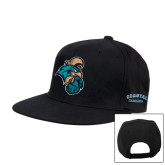 Black Flat Bill Snapback Hat-Chanticleer Head