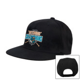 Black Flat Bill Snapback Hat-2016 National Champions