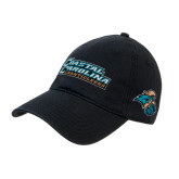 Black Twill Unstructured Low Profile Hat-Coastal Carolina Chanticleers