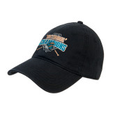 Black Twill Unstructured Low Profile Hat-2016 National Champions