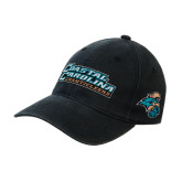 Black OttoFlex Unstructured Low Profile Hat-Coastal Carolina Chanticleers